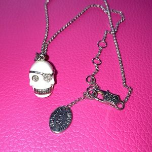 Juicy Couture Silver Skull necklace 2010